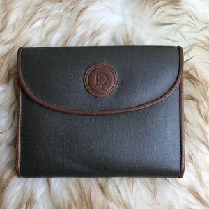 Vintage Christian Dior Wallet Bi fold Olive Green